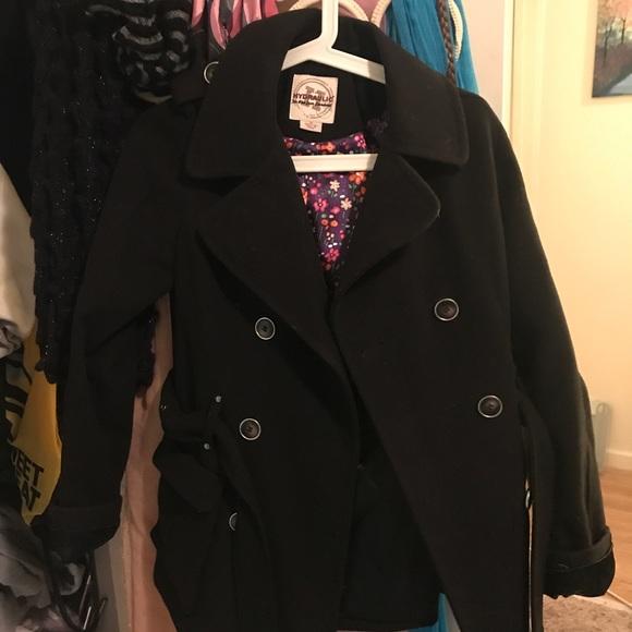 6b4e45107 Black Pea Coat